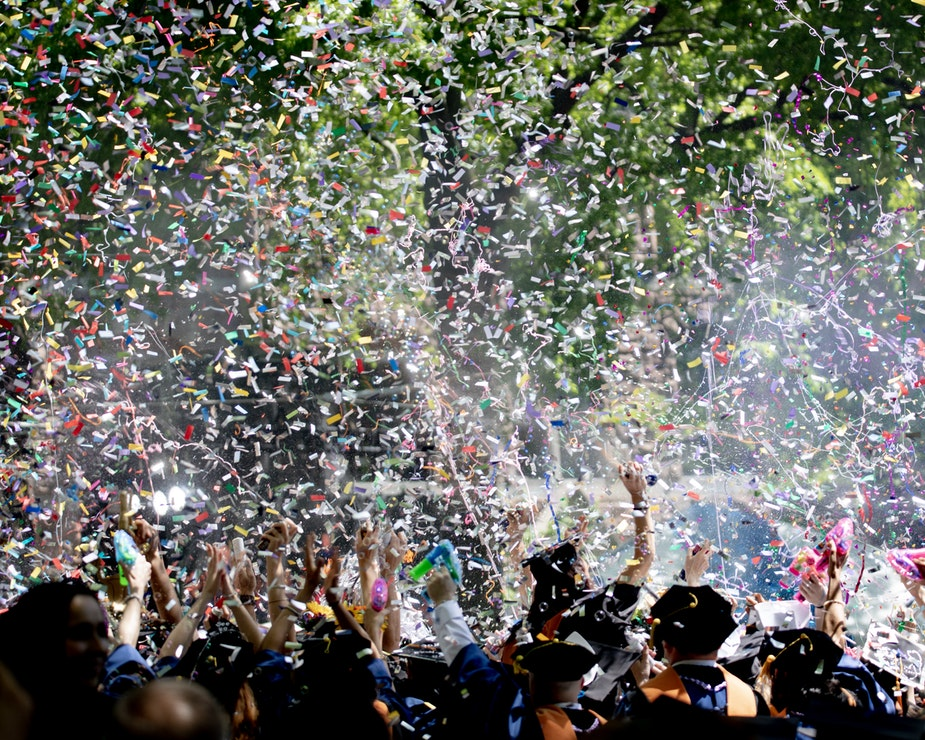 college kids graduate